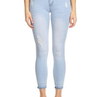 Mid Rise Denim Comfy Fitted Jeans
