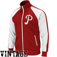 Mitchell & Ness Philadelphia Phillies Cooperstown Collection Around the Horn Jacket - Red
