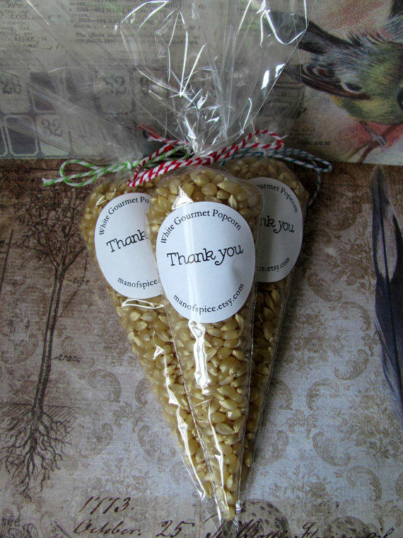 Wedding Favors Popcorn Wedding Favors From ManofSpice On Etsy