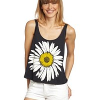 O'Neill Juniors Flower Garden Scoop Tank Top, Black, X-Large