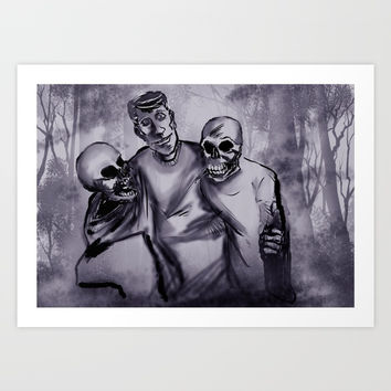 Best Buds! Art Print by jhuntgraphix