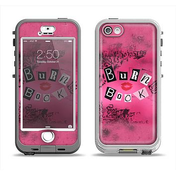 The Burn Book Pink Apple iPhone 5-5s LifeProof Nuud Case Skin Set