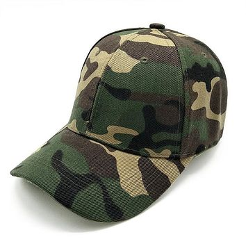 Camouflage Hats For Men Women Cotton Camo Baseball Cap Outdoor Climbing Hunting Camo Hats Army Camo Snapback