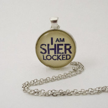 Sherlock-Inspired Sherlocked Pendant Necklace or Keychain