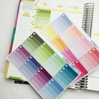 16 Ombre ToDo Heart Checklist Die-Cut Sticker Squares // (Perfect for Erin Condren Life Planners)