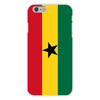 Apple iPhone 6 Custom Case White Plastic Snap On - Ghana - World Country National Flags