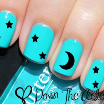 Stars & Moon Nail Decals - Set Of 80