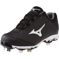 Mizuno Women's 9-Spike Swift 3 Switch Fastpitch Softball Cleat - Black/White | DICK'S Sporting Goods