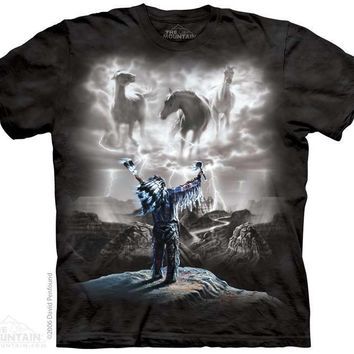 New SUMMONING THE STORM NATIVE AMERICAN INDIAN T SHIRT