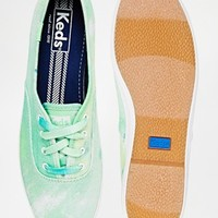 Keds Champion Blue Tie Dye Plimsoll Trainers