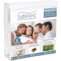 Twin Extra Long SafeRest Classic Plus Hypoallergenic 100% Waterproof Mattress Protector - Vinyl Free