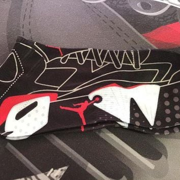 PEAPUG7 Air Jordan Retro 6 'Infrared' Socks