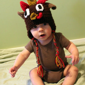 Turkey Toddler or Baby Hat by makinitmama on Etsy