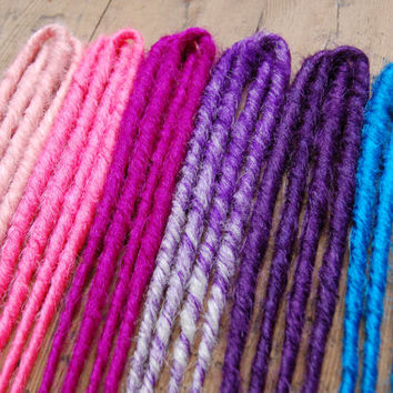 DOUBLE Ended Synthetic Dreads - Custom Set  - Dreadlock Extensions - Price Per Dread - Made To Order
