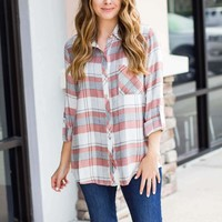 Mad For Plaid Top - Pink