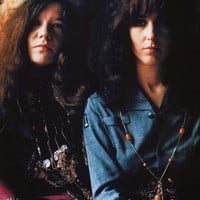 Janis Joplin and Grace Slick Poster 23x33