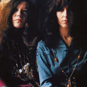 Janis Joplin and Grace Slick Soul Sisters Poster 23x33