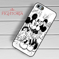 Mickey Mouse Minnie Mouse BW - zzD for  iPhone 6S case, iPhone 5s case, iPhone 6 case, iPhone 4S, Samsung S6 Edge