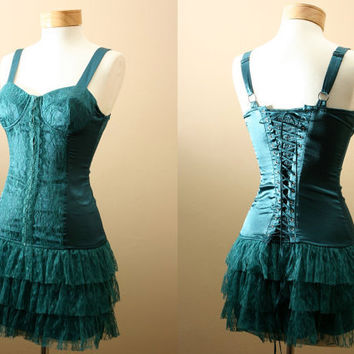 ON SALE // 4th of July // The Belladonna Dress // Corset Burlesque Bustier Flapper Party Dress (S,M,L)