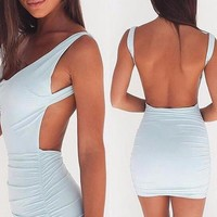 Deep Open-Back Party Dress