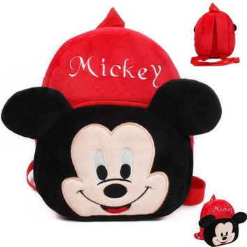 Kindergarten Children Cartoon Mickey School Bags 2017 Kids Minnie Backpack Waterproof Schoolbags Satchel For Boys And Girls