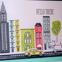 Westie Hello Card, Any Occasion Card, Thinking of You Card, Birthday Card, New York City, Dog Card
