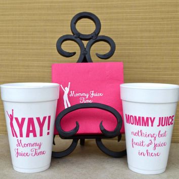 Mommy Juice Party Kit - Napkins & Cups