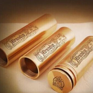 mirandus mod electronic mechanical mod ecig mod clone copper and stainless steel mirandus mod for 18350 18490 18650 battery DHL Free
