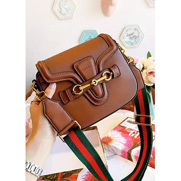 GUCCI Fashion New More Letter High Quality Shopping Leisure Shoulder Bag Crossbody Bag Saddle Bag
