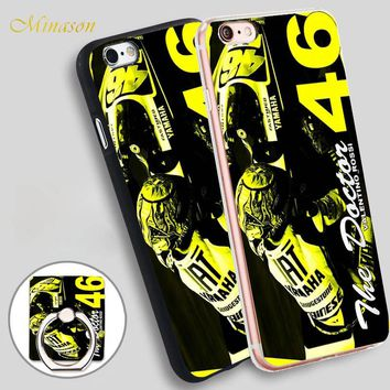 Minason Cool Valentino Rossi 46 Mobile Phone Shell Soft TPU Silicone Case Cover for iPhone X 8 5 SE 5S 6 6S 7 Plus