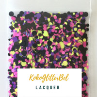 Holographic Glitter Mix Dots - Lacquer