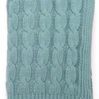 Beach Blue Big Cable Knit Throw