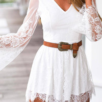 Floral Embroidery Playsuit with Lace Details