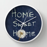 home sweet home Wall Clock by ingz