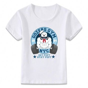 Kids Clothes T Shirt Ghostbusters Marshmallow Man Funny Children T-shirt for Boys and Girls Toddler Shirts Tee