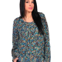 Romeo & Juliet Couture Long Sleeve Multi Yarn Sweater Top