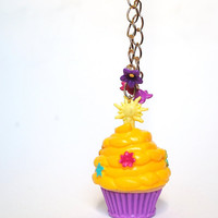 Rapunzel Cupcake Necklace