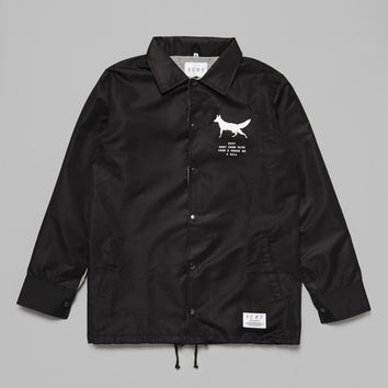 Fox Coach Jacket - Black – SCRT