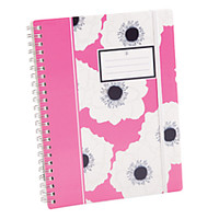 See Jane Work Spiral Notebooks 5 34 x 8 Wide Ruled 80 Sheets Pink Floral by Office Depot