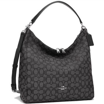 NEW Authentic Coach F58327 Celeste NS Convertible CrossBody Bag Handbag Black Smoke/Black