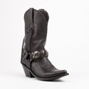 Liberty Black Biker Harness Boots
