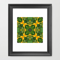 Patterned Perspective  Framed Art Print by Louisa Catharine Design