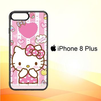 Hello Kitty Candy Pink L1944 iPhone 8 Plus Case