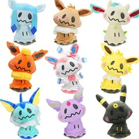 Kawaii 23cm Mimikyu Cosplay Eevee Movie Anime Stuffed & Plush Animals Toys pkm Stuff Plush Doll Toys Gifts for Children