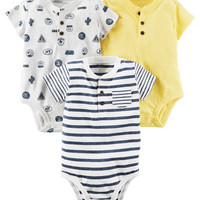 3-Pack Henley Original Bodysuits