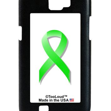 Lyme Disease Awareness Ribbon - Lime Green Galaxy Note 2 Case  by TooLoud