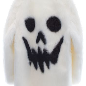 SKULL FACE FUR COAT