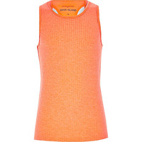 River Island Girls orange woven racer back tank
