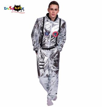 Men Astronaut Alien Pop Dancer Stage Spaceman Costume Carnival Party Club Adult Male Outfits Clothing Halloween Fancy Costumes