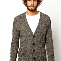 ASOS Cable Cardigan - Brown twist